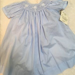 Pale blue dress 24 Months hand smocked